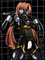 Rubber Sister Sakuya Black Rubber Suit with Gasmask